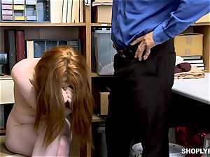 Ella Hughes penetrated pouch deep by kinky mall cop