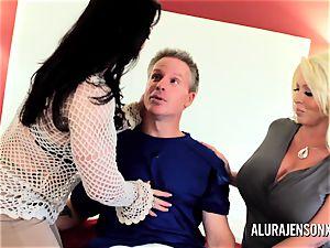 mummy detective Alura Jenson three-way sex