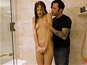 JIllian Janson buttfuck inserted in the shower
