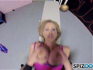 pounding Julia Ann in the locker room