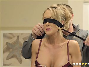 The hubby of Brandi love lets her pummel a different boy