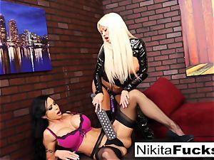 Nikita Von James and pearl Jade penetrate