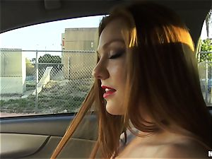 sloppy minx Farrah Flower pokes for a fine gesture