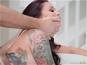 humble husband sees his wife Monique Alexander get bum-fucked