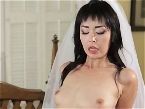 uber-sexy bride Marica Hase humps her fresh hubby