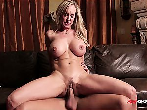 huge-chested milf rides youthfull dude