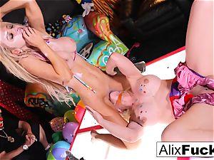 super-naughty Clown undress Club lesbian humping