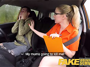 fake Driving school check-up failure leads to super-hot romp