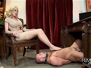 wild humungous bosses Headmistress Brandi enjoy predominates her employee in the office