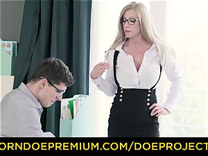 insatiable tutor - huge-boobed milf gets poked by her schoolgirl