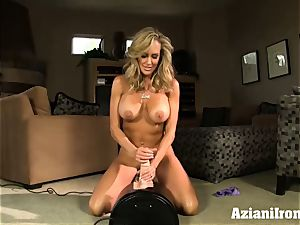 Brandi love rides the sybian naked