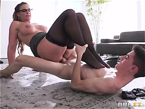 youthful amateur college girl gets his manmeat deep-throated by brutish buxom teacher Phoenix Marie