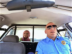 insatiable Aidra Fox puss tucked sack of babymakers deep by policeman