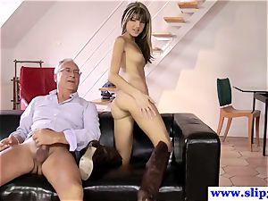 british nubile butt-banged deeply by elderly mans pecker