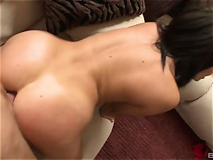 Madison Ivy slips out of her cut-offs and red bra