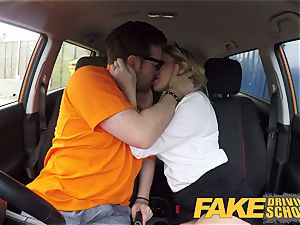 fake Driving college Georgie Lyall Off Duty sex