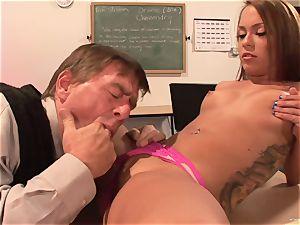 Haley sweet enjoys getting her wet gash hammered