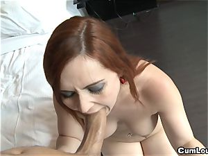 Angell Summers screwed deep in her cock-squeezing caboose