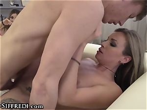 Rocco Siffredi Guides guy in boinking two Italian honeys