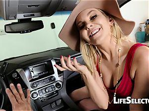 sassy milf Aaliyah enjoy gives a deep throat in your car