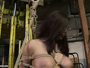 Kathia Nobili slapping the butt of super hot chick with crop