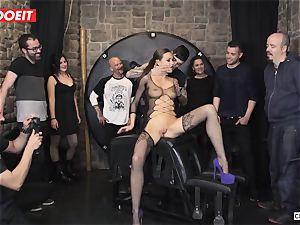 british stunner Tina Kay Gets obedient