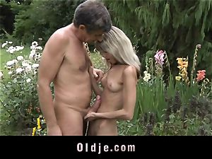 Gina Gerson gets ass-fuck from an old man