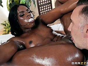 Kerian Lee rams his lubed man-meat into red-hot ebony babe Ana Foxxx