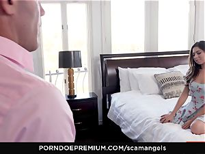 SCAM ANGELS - Gina Valentina group sex with hot honeys