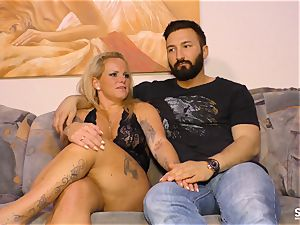 SEXTAPE GERMANY - German bbw rookie raunchy romping