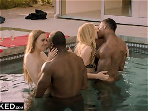 BLACKED Kendra Sunderland brings a few mates