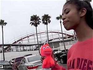 ebony teen Nia Naccis cock-squeezing vagina gets opened up