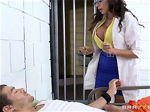 mind-blowing prison medic Ariella Ferrera milks off her patient
