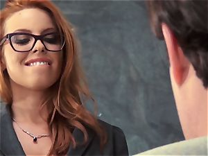 fresh schoolteacher Britney Amber plows for her job