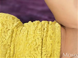 mom splendid curvaceous Russian ginger-haired deep throats and torn up