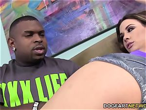Chanel Preston fellates and pokes big black cock - cuckold Sessions