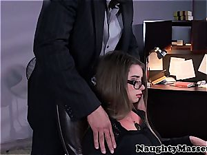 Stressed employee at the office needs sexual healing