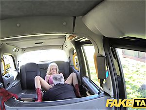 faux cab blond gorgeous bombshell does backseat assfuck romp