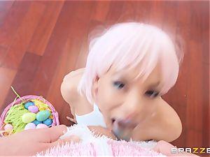 Easter bunny bangs tasty Luna star