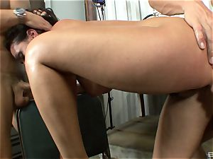 marvelous dark haired with huge bra-stuffers Charley chase