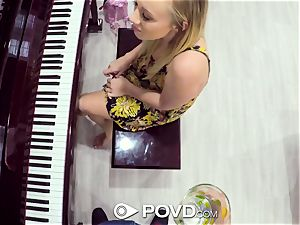POVD blond Bailey Brooke plows piano lesson tutor
