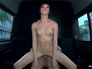 BumsBus - German Anny Aurora undress and ravages in the van