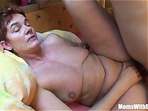 weary senior Mama Receives A rock-hard anal treat