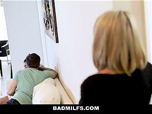 BadMILF - Jealous Stepmom three-way With Stepson And gf