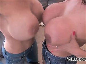massive funbag playtime with Ariella Ferrera and Deauxma