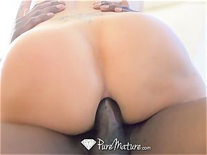 PUREMATURE interracial buttfuck smash with seductive mummy