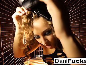 Dani Daniels A trapped biotch inwards A Dog cell