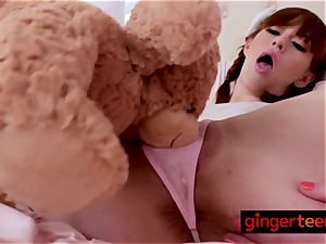 ginger-haired Alexa gets deeply banged by mischievous step-father deep and rock hard