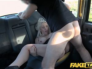 fake taxi blond milf Victoria Summers humped in a cab