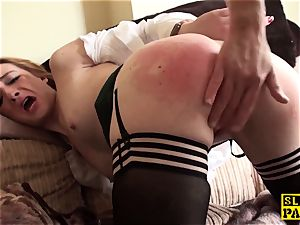 Ginger brit gimp superslut predominated in stockings